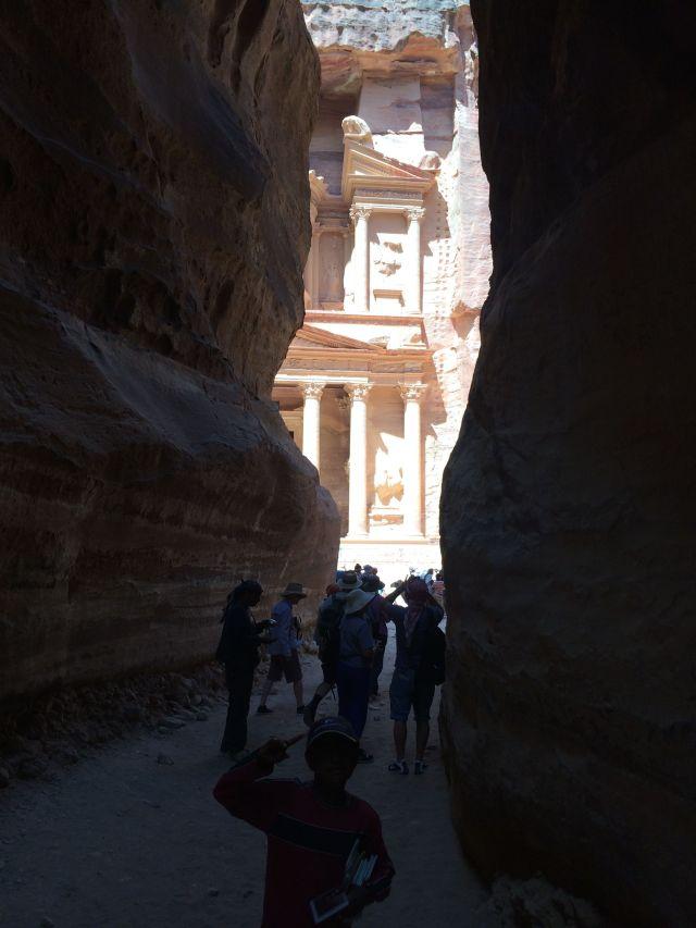 140622 Petra - Khazneh-from-Siq